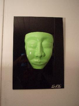 L'homme nature   35cm x 25cm x 11cm   (argile, acrylique, dibon)