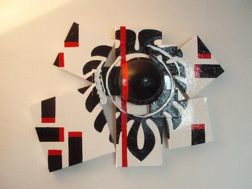 Fleur noire   64cm x 85cm