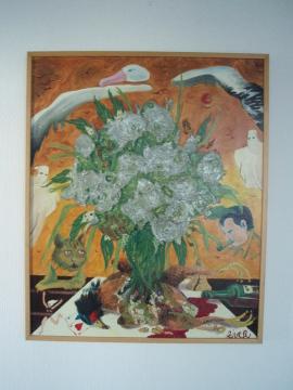 Les fleurs du mal 73cm x 60cm