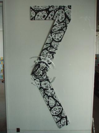Black & White   1,92m x 60cm