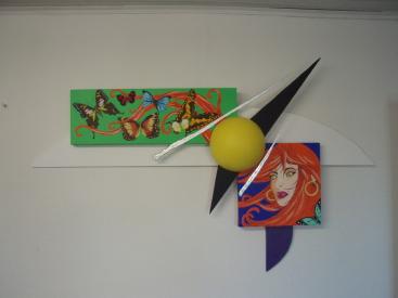 La femme aux papillons   1,30m x 80cm