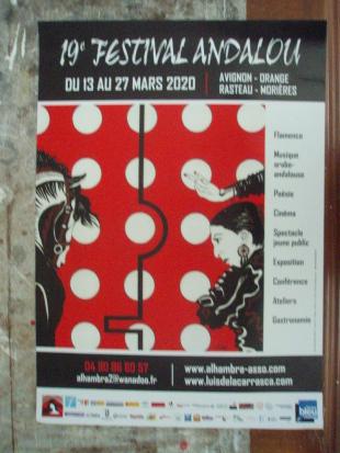 Maquette affiche du 19e Festival Andalou 2020 (Alhambra-Luis de la Carrasca-Flamenco) (vendu)