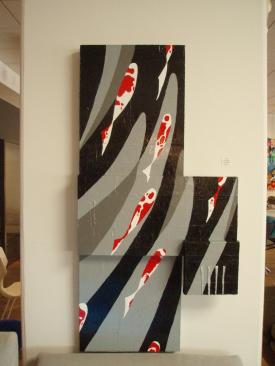 Carpes Japonaises (KoÏ)   1,20m x 60cm