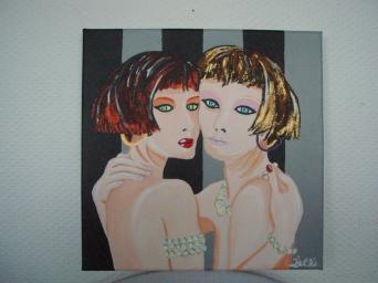 Jeunes filles aux perles 30cm x 30cm
