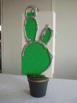 Pot cactus   21cm x 60cm x 15cm